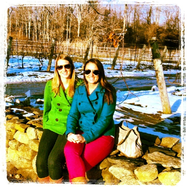 Me and Kate in the vineyard.  (this would be much nicer if it was 40 degrees warmer)