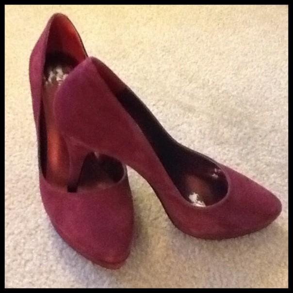 Maroon Suede Pumps