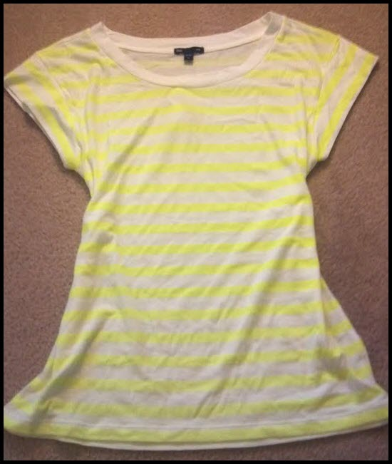 White and Neon Yellow Stripes