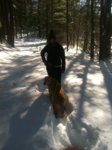 Me and Taz towards the beginning of the hike
