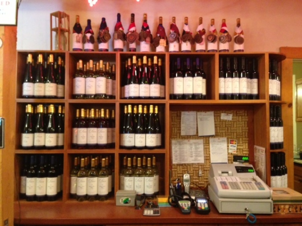 Inside the tasting room - all the wines and awards!